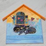 1009-KР. Деко къщичка за ключове Котки