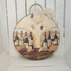 1010-KP. Деко дървена дъска Вино