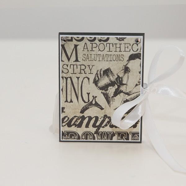 1003-РР. Мъжка ретро Картичка с джоб