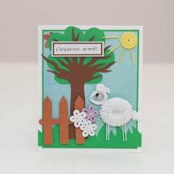1045-РР. Мини Картичка Овчица