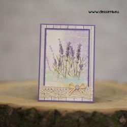 1107-РР. Поздравителна картичка Лавандула