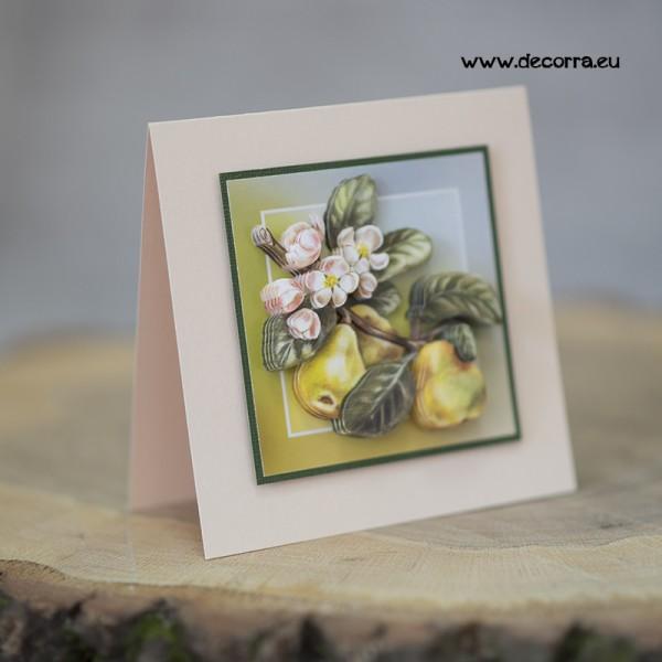 1113-РР. Луксозна поздравителна картичка с Круши
