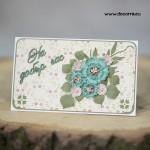 """1114-РР. Картичка плик с цветя """"На добър час!"""""""