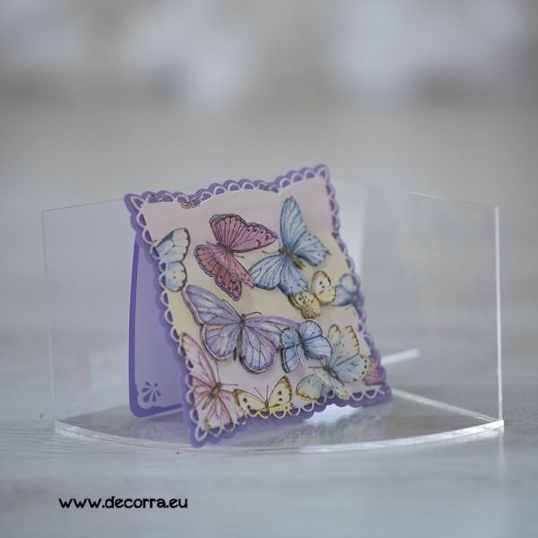 1116-РР. Дамска картичка с лилави пеперуди