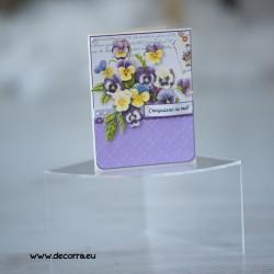 1122-РР. Дамска поздравителна картичка Теменужки