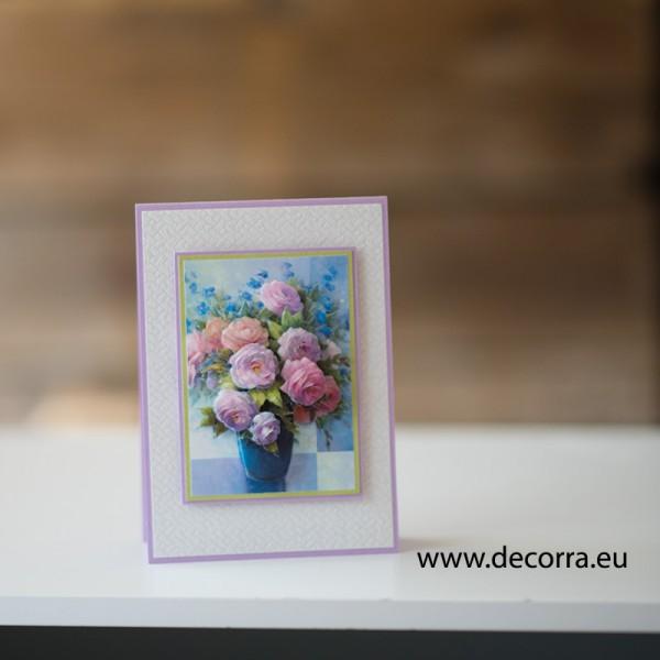 1165-РР. Картичка за жена ваза с рози