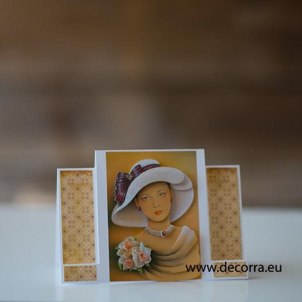 1171-PP. Бутикова картичка ретро жена