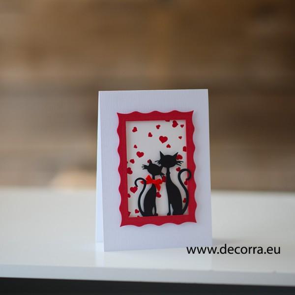 1186-РР. Бутикова картичка влюбени котки