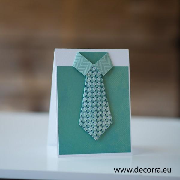1227-РР. Универсална картичка за мъж риза с вратовръзка