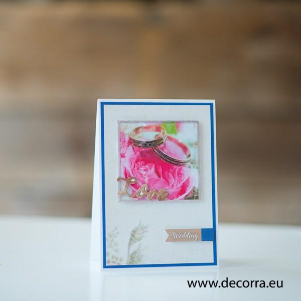 1175-РР. Поздравителна картичка сватбени халки