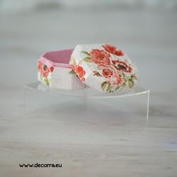 2056-MB. Кутия за бижута Червени цветя и Мак