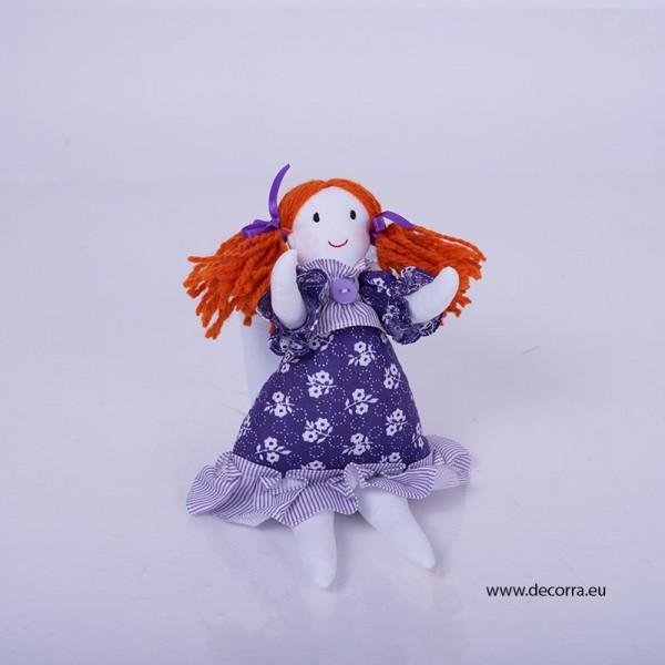 3069-DD. Детска текстилна Кукла Червенокоска