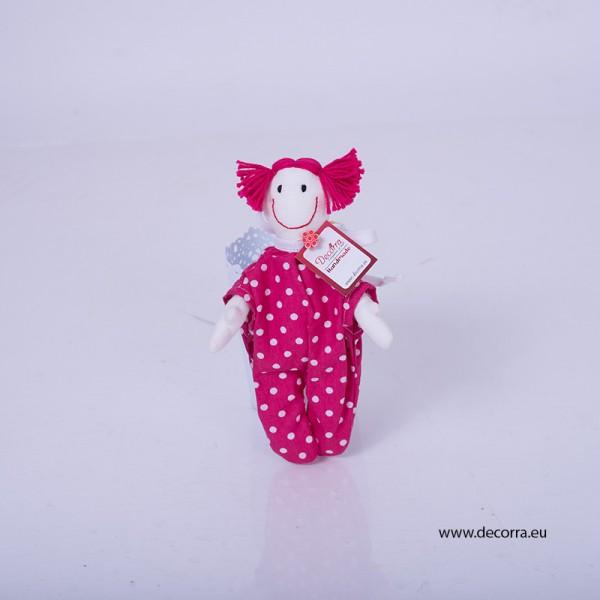 3073-DD. Детска мини кукла от плат Веселушка
