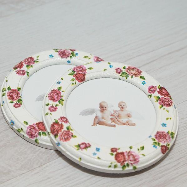 3005-KP. Рамки за снимки Червени розички - 2 бр.