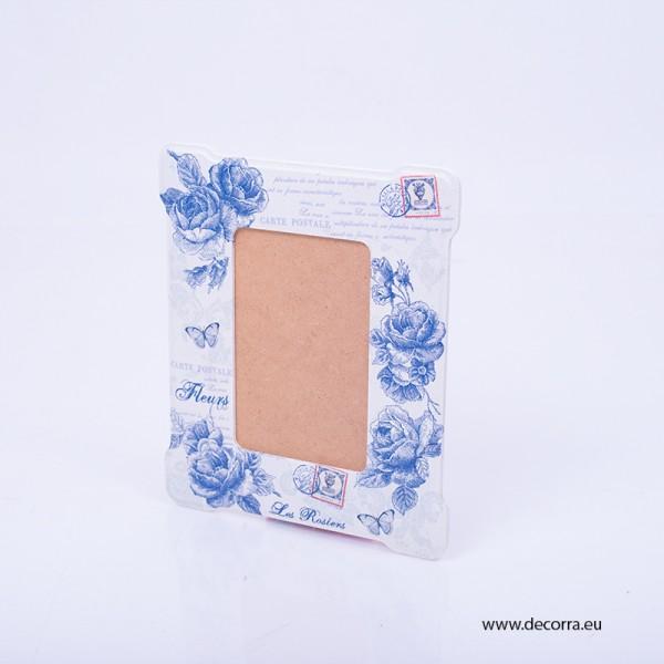 3007-KP. Рамка за снимка Винтидж сини рози
