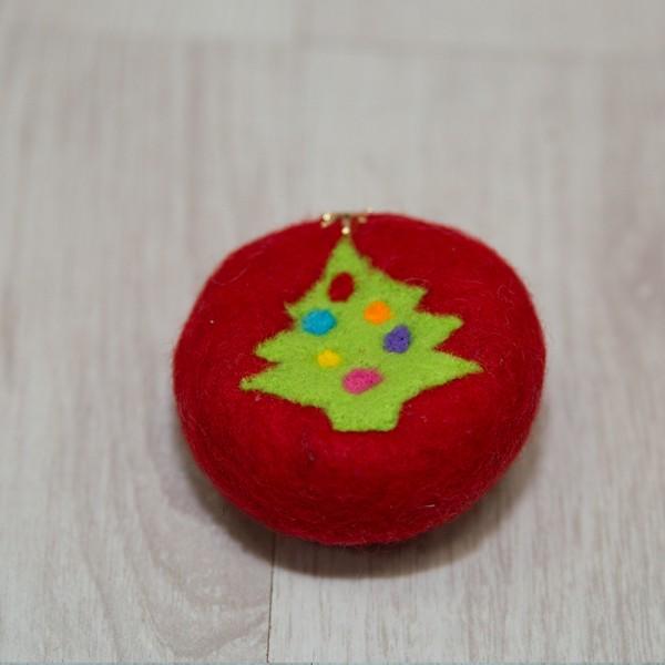 3002-PP. Плъстен Сапун Коледна елха