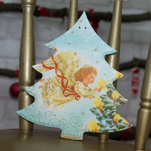 3014-PР. Пано Коледна Елха с Ангелче