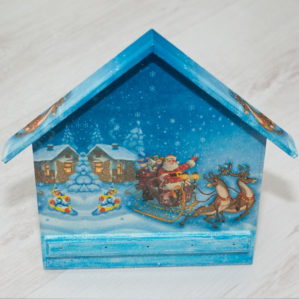 3029-PР. Деко Коледна къщичка за ключове