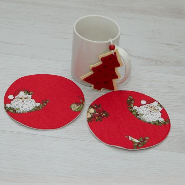 3062-PP. Подложки за чаши дядо Коледа - 2бр.