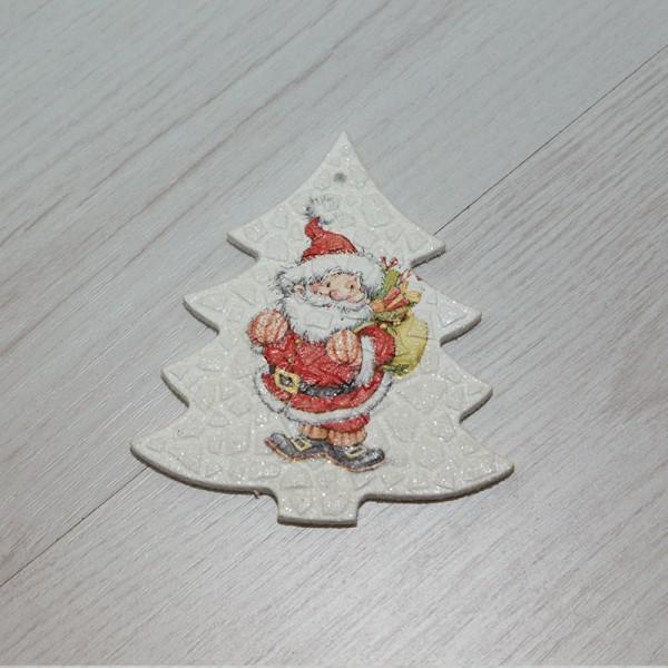 3057-PР. Деко висулка за елха с дядо Коледа