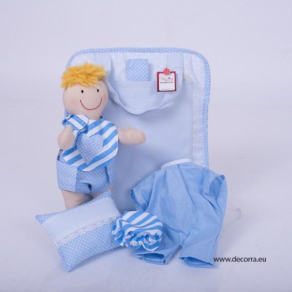 4036-DD. Чанта с кукла БЕБЕ момче