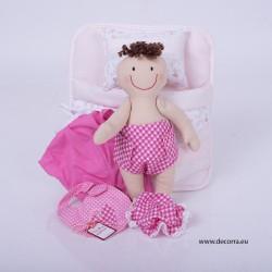4011-DD. Чанта с кукла БЕБЕ момиче