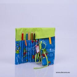 4040-DD. Сгъваем моливник от плат за Момче