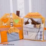 4057-DD. Куклена чанта от плат с кукла и аксесоари