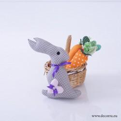 4019-PP. Великденско Сиво Мини Зайче