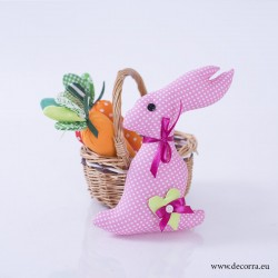 4023-PP. Великденско Розово Зайче