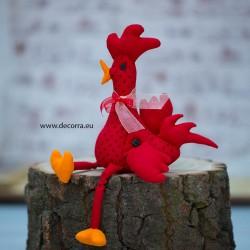 4087-PP. Великденско червено Петленце от плат