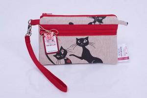 Дамско клъч портмоне с Черни котки. Хит продукт за жените