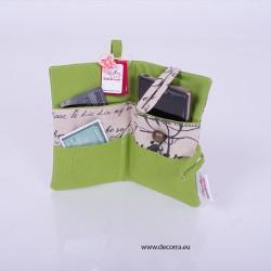 5014-MB. Портмоне за документи и телефон Музика и Ноти