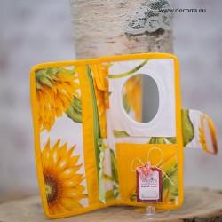 5052-MB. Портмоне с огледало Слънчогледи