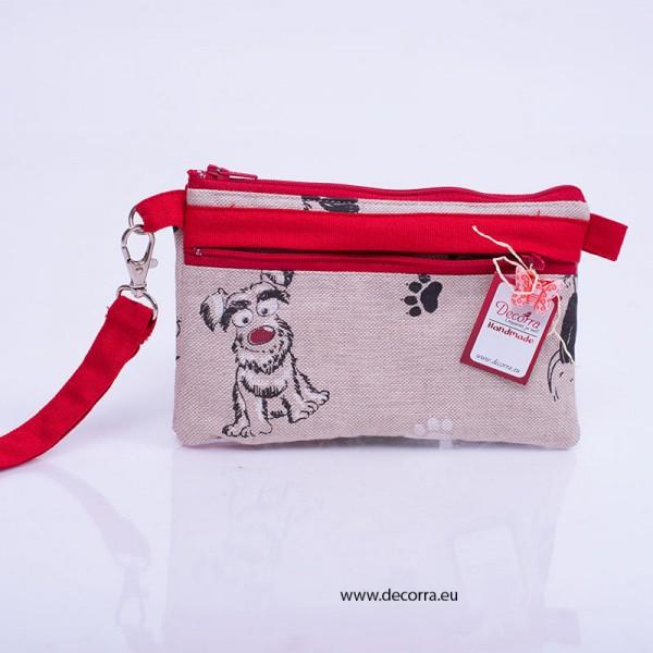 5024-MB. Клъч Портмоне от плат с Куче