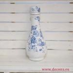 1012-ID. Винтидж ваза шише Сини Цветя
