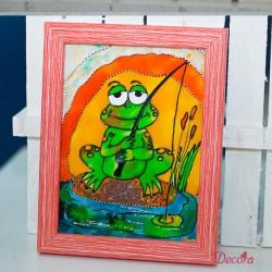 2002-КР. Стъклена картина Жабче