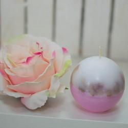 1009-LS. Свещ Омайна роза - кръгла