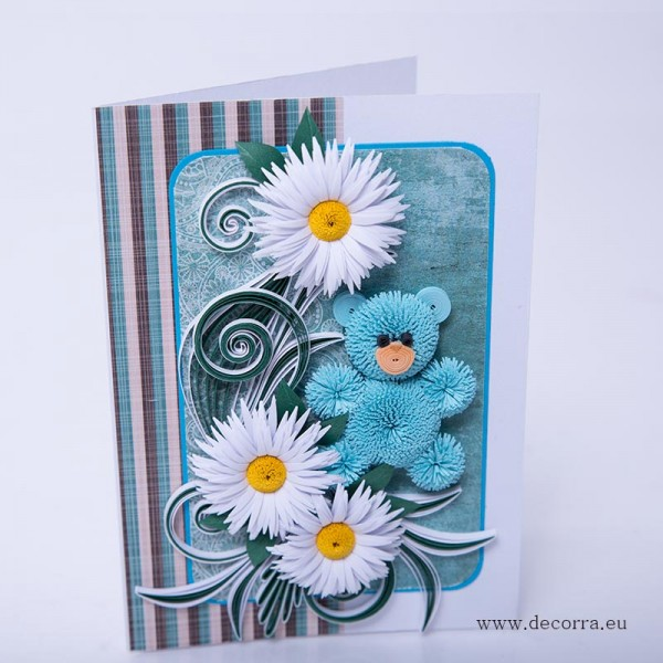1002-РР. Детска картичка синьо Мече