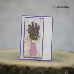 1115-РР. Поздравителна картичка Лавандулов букет