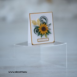 1135-РР. Дамска картичка квилинг Слънчоглед