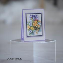 1136-РР. Поздравителна картичка Теменужки, 3D