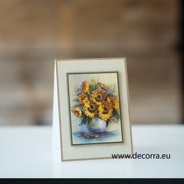1153-РР. Дамска картичка Слънчогледи