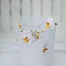 2028-MB. Комплект бижута Бяла Орхидея