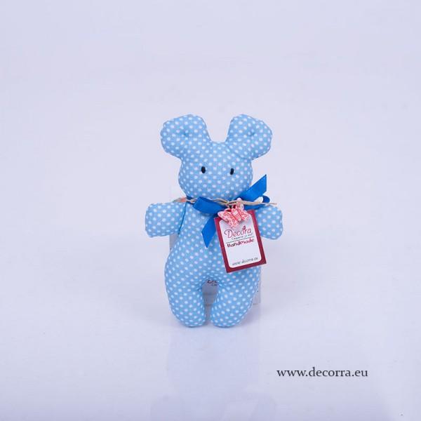 3053-DD. Бебешка играчка синьо Мече