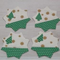 3051-PP. Коледни подложки за чаши 4бр.