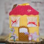 4003-DD. Къщичка от плат с кукла и комплект за рисуване