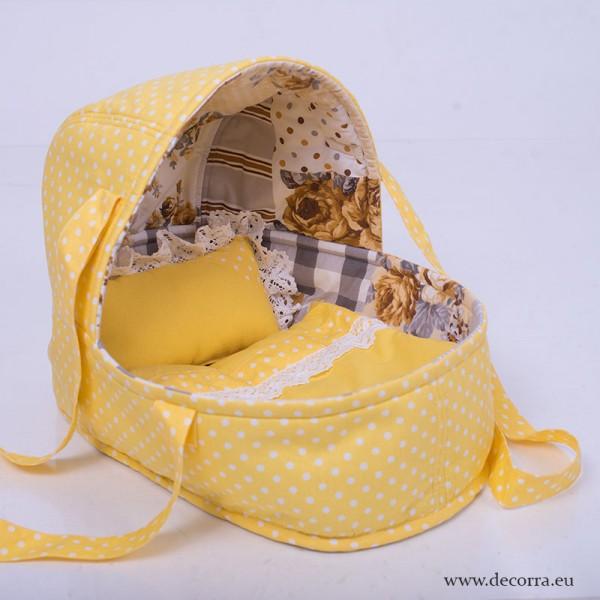 4002-DD. Преносимо кошче за кукла бебе, порт бебе