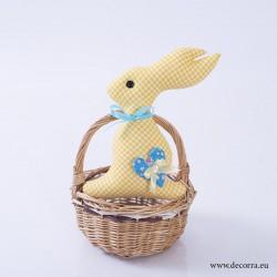 4010-PP. Великденско Жълто Мини Зайче