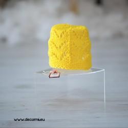 5082-DD. Детска пролетна шапка за момиче, жълта